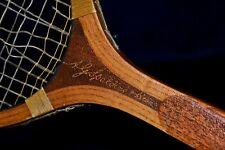 Antique Wood 1920 A G Spalding & Bros Autograph Tennis Racket