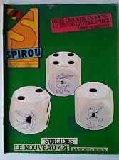 """c)SPIROU N°2412; """"Suicides"""" Le nouveau 421"""
