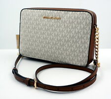 MICHAEL KORS Tasche Handtasche Jet Set LG Crossbody Signature Vanilla, NEU