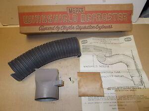 Mopar NOS Windshield Defroster Package 41-48 Dodge, DeSoto, Chrysler