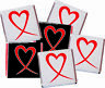 100x Heart Neapolitan Milk Chocolate Favours Individually Foil Wrapped