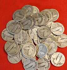 1925-P-1930-P 25C STANDING LIBERTY QUARTER 90% SILVER 40 COIN ROLL CLEAR DATES