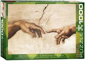 Creation of Adam (Detail) Michelangelo 1000 piece jigsaw puzzle 680 x 480mm (pz)