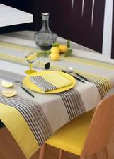 Le Jacquard Francais Tischdecke Mikado Lemon 140 x140 Baumwolle Acryl abwaschbar