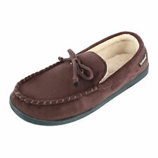 New Isotoner Men's Microsuede Moccasin Slippers