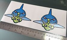 Valentino Rossi 46 Misano Fish Shark DECALS STICKERS (120mm x 100mm) X2