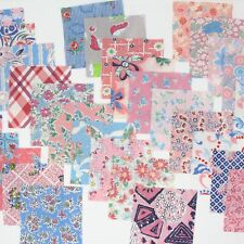 30 Pcs Vintage Flour Feed Sacks Novelty Fabric 5x5 All Different Pink