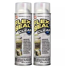 Flex Seal 2 Pack Liquid Rubber Sealant Clear Spray 14 Oz Per Can As Seen On Tv