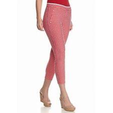 HUE M Checkered Knit Capri Leggings  NWT(Location 1444A-2F)