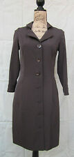 "Women's Coat By ""ZENOBIA"" Canada Coffee Brown Size 4 Knee Length & Button Close"