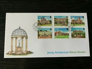 NEW21 - 2014 - JERSEY FDC's ~ ARCHITECTURE ~ MANOR HOUSES