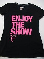 NIKE T-Shirt Women's Size S DRI-FIT Slim Fit Black/Pink