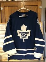 Vintage 90's Starter Toronto Maple Leafs NHL Hockey Jersey (Men's Medium )