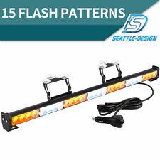 """31"""" 28LED Warning Traffic Advisor Emergency Strobe Light Bar with Cigar Lighter"""