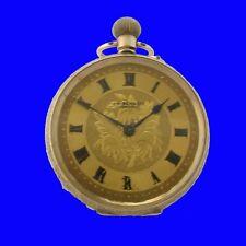 Mint 9k Gold Keyless LEpine Enamel Victorian J W Benson Fob Watch 1904