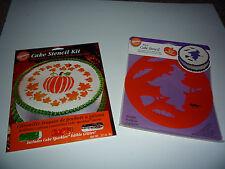 Wilton Cake Stencils HALLOWEEN Pumpkin Patch and Witch Stencils  New