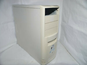 ✔️🖥 RETRO VINTAGE WHITE ATX MIDI TOWER COMPUTER CASE NO PSU - UK SELLER