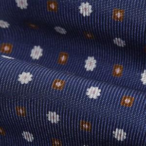 Bigi Cravatte silk tie  Wide blade, floral pattern  Silk