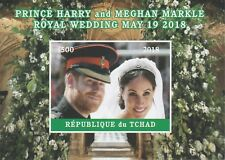 Chad 7596 - 2018 HARRY & MEGHAN WEDDING  imperf deluxe sheet  unmounted mint