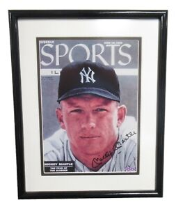 Mickey Mantle Signed Autographed Sports Illustrated SI Cover June 18 1956 UDA