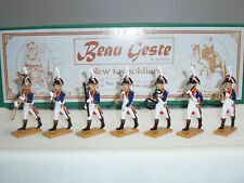 BEAU GESTE NO.57 FRENCH GRENADIERS BAND 1809 METAL TOY SOLDIER FIGURE SET
