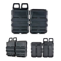 Rifle/Pistol Fast Mag Pouch Double Holder Holster Magazine Case Set Air Soft Mag