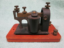 *SUPER LOUD* ANTIQUE MORSE CODE TELEGRAPH SOUNDER RAILROAD WM.M. NYE CO. WA, USA