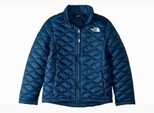 The North Face Girl's Thermoball Full Zip Jacket Size XS (6), Blue Wing Teal NWT