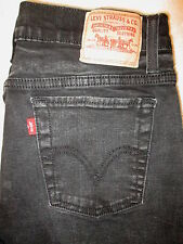 Levis 512 Perfectly Slimming Stretch Boot Cut Womens Black Jeans Sz 12 S  x 28.5