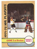 1972-73 O-Pee-Chee #54 Playoff Game 5 Boston Bruins / New York Rangers