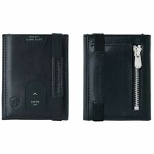 VON HEESEN mini card case with coin compartment - slim wallet with RFID protecti