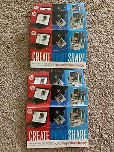 "HP Advance Create Print Share 4""x6"" Photo Paper Lot Of 6 Packs NEW!"