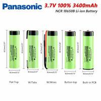 18650 NCR18650B 3400mAh Li-ion 3.7v Li-Ion Rechargeable Battery 18650 charge new