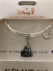 Disney Parks ALEX & ANI bracelet CINDERELLA CASTLE color - silver tone - NEW