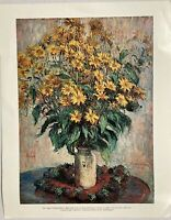 Claude Monet Vase Of Chrysanthemums National Gallery Of Art Vintage Print 11x14