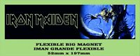 IRON MAIDEN FEAR OF THE DARK IMAN GRANDE 52mm X 197mm FLEXIBLE BIG MAGNET A0068