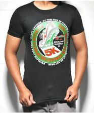 Printed Graphic Sports Activity Statement Short Sleeve T-Shirt (Black)