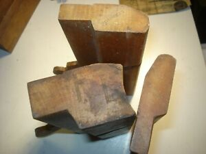 3 WOODEN MOULDING PLANES BY D.R. BARTON ROCHESTER, N.Y.