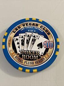 LAS VEGAS CLUB POKER ROOM $10 Casino Chips Las Vegas Nevada 3.99 Shipping