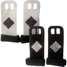 Leather Hand guard Grip crossfit gymnastics palm protectors glove pull bar (AA)