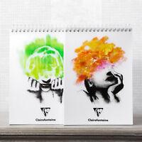 Spiral A5 Sketch Pad Plain Blank 90gsm White Paper Drawing Art Pen Book Journal