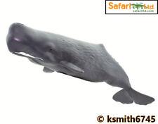 Safari DARK SPERM WHALE solid plastic toy wild zoo sea marine animal * NEW * 💥