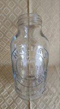 "Antique HORLICK'S MALTED MILK 1 Gallon Glass Bottle M.M. Trade Mark USA 11"" Tall"