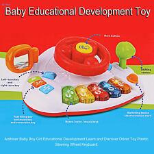 Pre School Toy Kids Steering Wheel Driver Car Dashboard Musical Piano keys sound