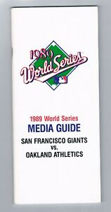 1989 SF Giants Oakland Athletics A's Battle of the Bay World Series Media Guide