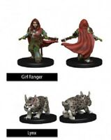 WizKids Wardlings Miniatures: Girl Ranger and Lynx