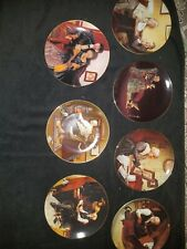 Norman Rockwell Golden Moments By Edwin Knowles China Set Of Collector Plates