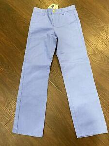 NWT $39 Janie and Jack Boys 10 Blue Dress Pants Adjustable Waist Flat Front