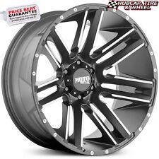 "Moto Metal MO978 Razor 20""x10 Satin Black Machined Custom Wheel Rim (ONE Wheel)"