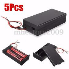 5PCS Holder Storage Box Case w/ ON/OFF Switch DIY For 2*18650 Batteries 3.7V